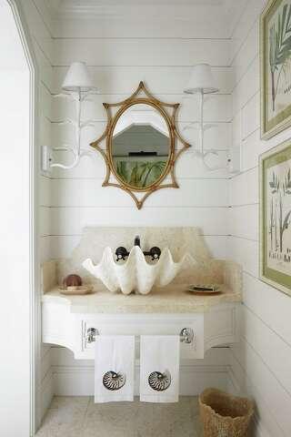 House Beautiful Magazine Editor Add Wow To Powder Rooms