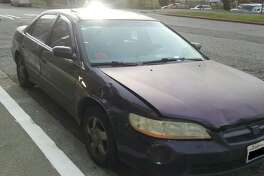 A driver was shot in the   leg and brought himself to  Harborview Medical Center Wednesday morning during an apparent road rage  incident on Interstate 5 in Seattle. He drove this purple Honda Accord, pictured. The State Patrol is looking for witnesses.