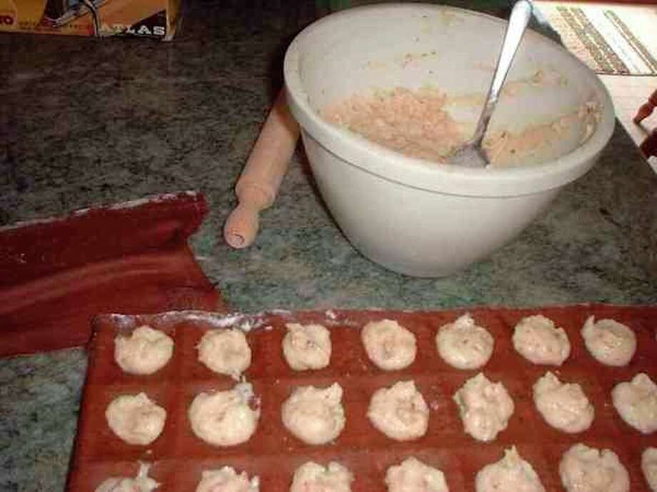 Filling is placed inside chocolate ravioli. (Photo provided)