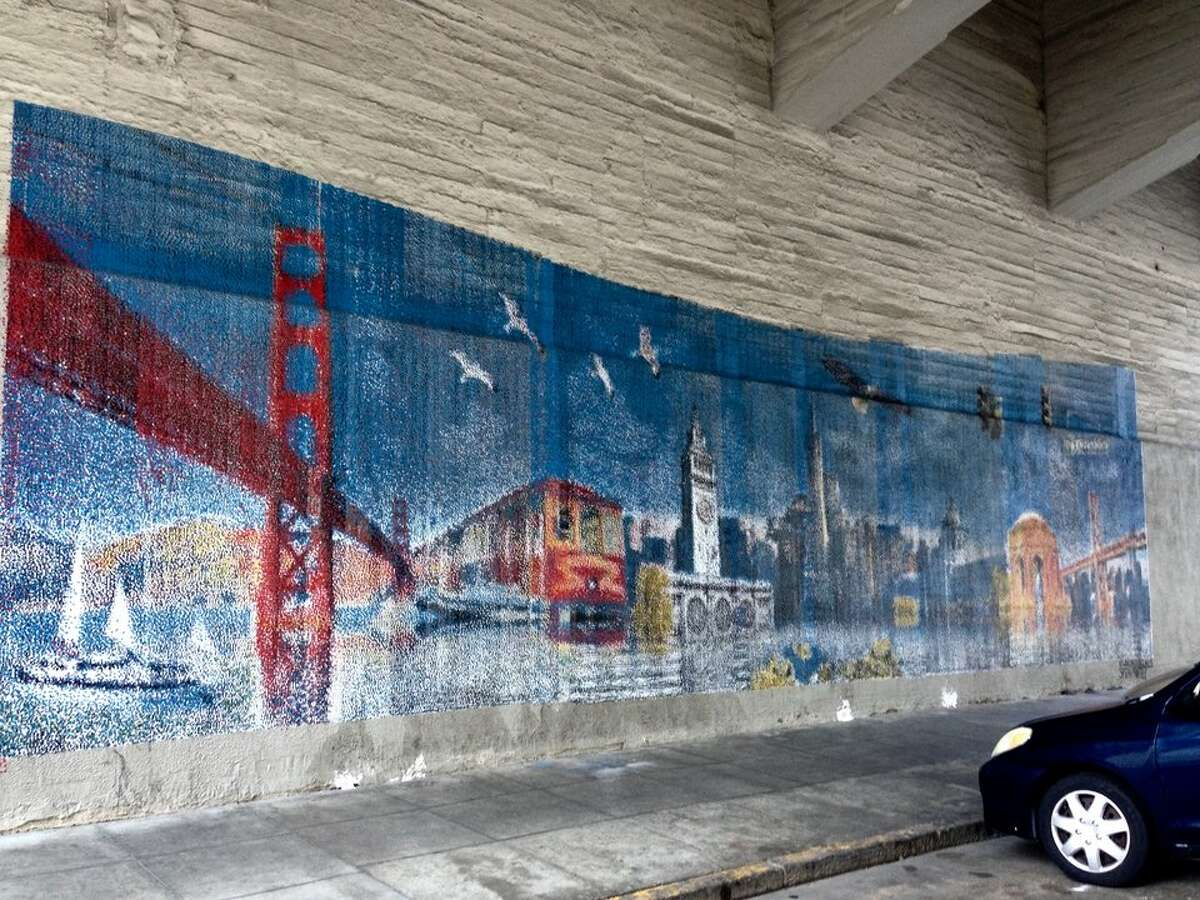 Vandals targeted a South of Market mural painted by SprayPrinter in March.