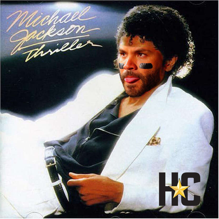 "Jose Altuve on the cover of ""Thriller"" by Michael Jackson