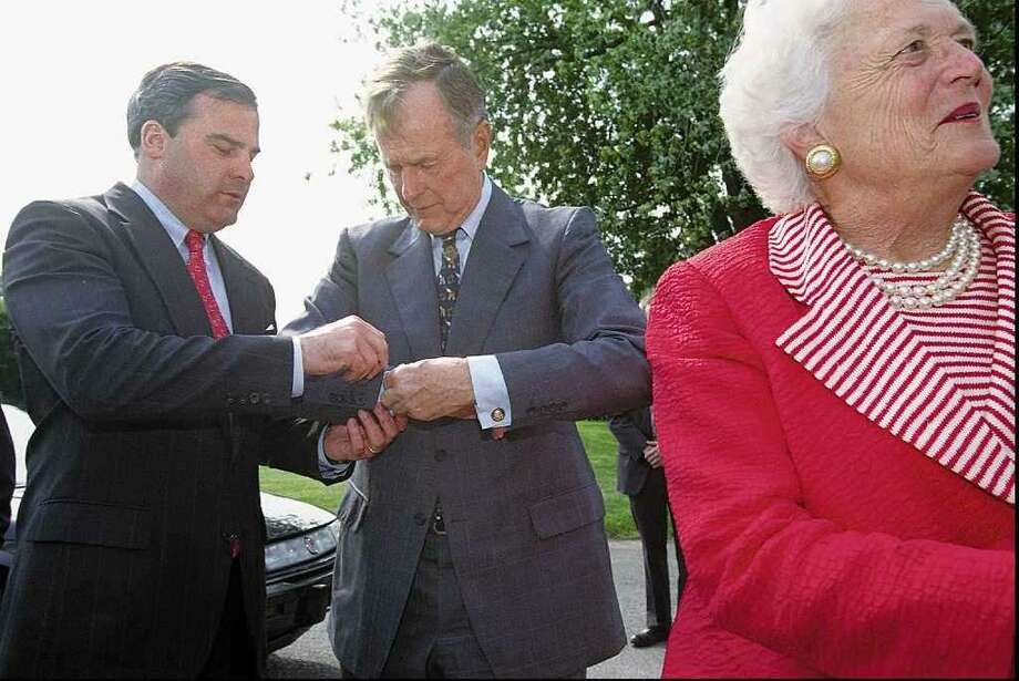 1998 is the year when Barbara Bush visited Connecticut in this CT Post file photo. Photo: /