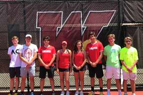 The Woodlands has four pairs of siblings on the team this season. From left to right, Lachlan and Jordan Laner, Alejandro and Ximena Quevedo, Natalia and Carlos Esteban, and Garrett and Ian Skelly.