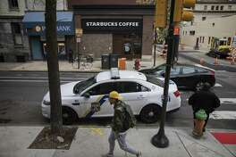 The Starbucks where two black men were arrested in the Rittenhouse Square neighborhood of Philadelphia, April 17, 2018. The incident and days of outrage that followed has led Starbucks to close more than 8,000 stores in the United States on May 29 for racial-bias training, it announced on April 17.