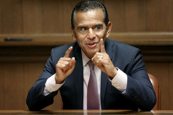 Antonio Villaraigosa, candidate for california governor.speaks at the Chronicle on Monday, April 16, 2018, in San Francisco, Calif.