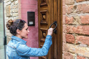 A person knocking on your door and asking to speak with someone who does not live there and who may also go to other homes knocking on doors. This is a tactic used by people with the intent to burglarize to see if people are home.