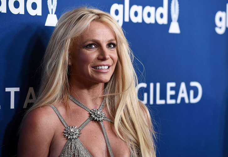 FILE- In this Thursday, April 12, 2018, photo Britney Spears arrives at the 29th annual GLAAD Media Awards at the Beverly Hilton Hotel in Beverly Hills, Calif. Britney Spears has a new niece. The singer on Thursday tweeted congratulations to her sister, Jamie Lynn Spears, for the birth of her second daughter. (Photo by Chris Pizzello/Invision/AP, File)