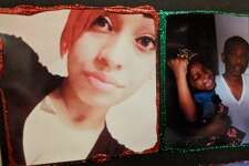 Family members showed off photos of 19-year-old Alize Gonzalez at the Wednesday sentencing of her killer, Francisco Escobedo. Escobedo shot her in the neck during an argument Nov. 10, 2015. A judge sentenced him to 22 1/2 years in prison.