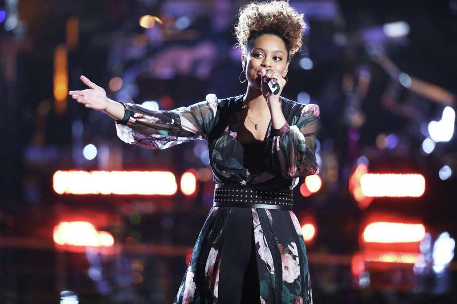 "Spensha Baker of San Antonio in one of her many incarnations performing on ""The Voice"" on NBC. Photo: Tyler Golden /NBC /Tyler Golden /NBC / 2018 NBCUniversal Media, LLC."