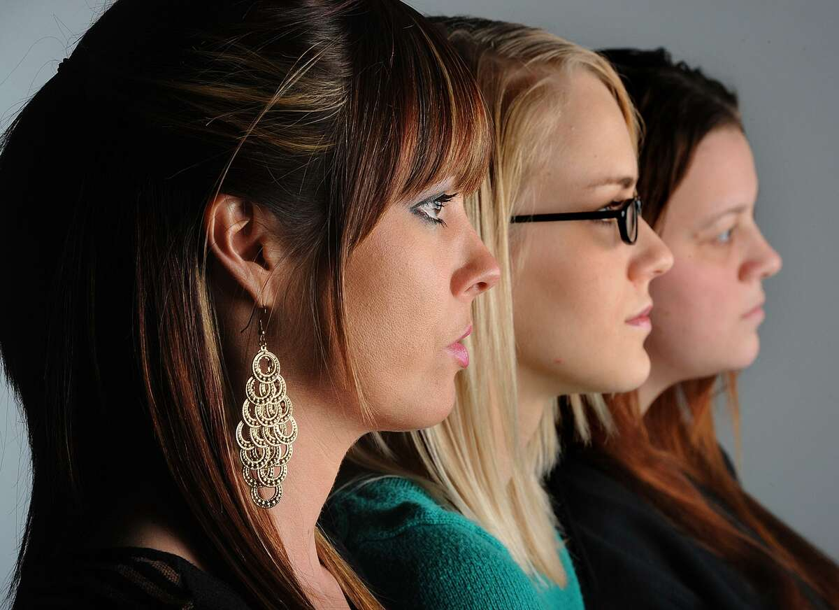 From left, Hollie Toups, 32, Marianna Taschinger, 22, and Kelly Hinson, 27, are among more than 20 Texan women to join in a class action lawsuit against a 'revenge porn' website. >>>See notable revenge porn cases in Texas.