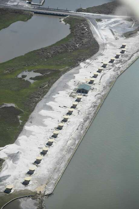 The boat ramp at Goose Island State Park near Rockport reopened to the public this week, but the rest of the popular park remains closed because of  extensive damage from Hurricane Harvey. The storm inflicted an estimated $32-$48 million in infrastructure damage to 30 Texas Parks and Wildlife Department sites. Photo: Texas Parks And Wildlife Department, PHOTOGRAPHER / Texas Parks And Wildlife Department / CHASE A. FOUNTAIN, TPWD