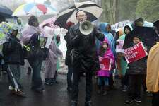 Protesters in Greenwich, Conn. in March 2015. In a study published April 19, 2018, Bloomberg determined that southwestern Connecticut had the fastest-growing gap in the nation between the top 1 percent of earners and those representing the middle class.