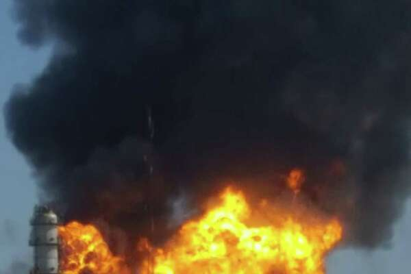 The explosion on Thursday afternoon shook a nearby plant, one witness reported. The refinery is in Texas City.