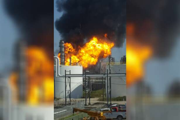A large fire broke out Thursday afternoon at a Texas City plant.