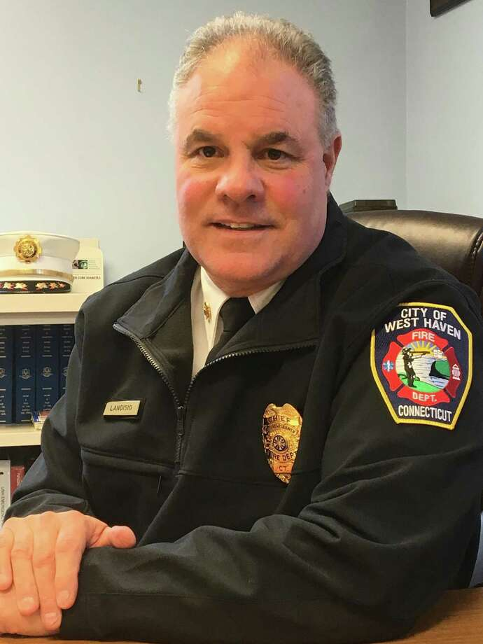 "Vincent P. Landisio, chief of the City of West Haven Fire Department -- Allingtown, resigned ""for personal reasons"" this week, effective at 4 p.m. Friday, less than five months after taking the job. Photo: Mark Zaretsky / Hearst Connecticut Media /"