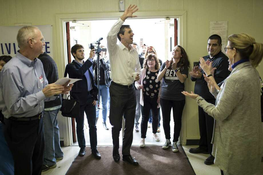 FILE -- Rep. Beto OÕRourke (D-Texas), who is taking on incumbent Republican Sen.Ted Cruz (R-Texas) in his upcoming Senate re-election run, arrives at a campaign event in Lufkin, Texas, Feb. 9, 2018. In the first three months of 2018, OÕRourke has raised $6.7 million, more than any of his Democratic counterparts seeking Senate seats around the country in that time period, giving Texas Democrats a burst of hope. (Tamir Kalifa/The New York Times) Photo: TAMIR KALIFA, STR / NYT / NYTNS