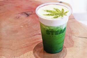 STEAP Tea Bar in Chinatown offers a CBD infused bubble tea dubbed Green Queen.