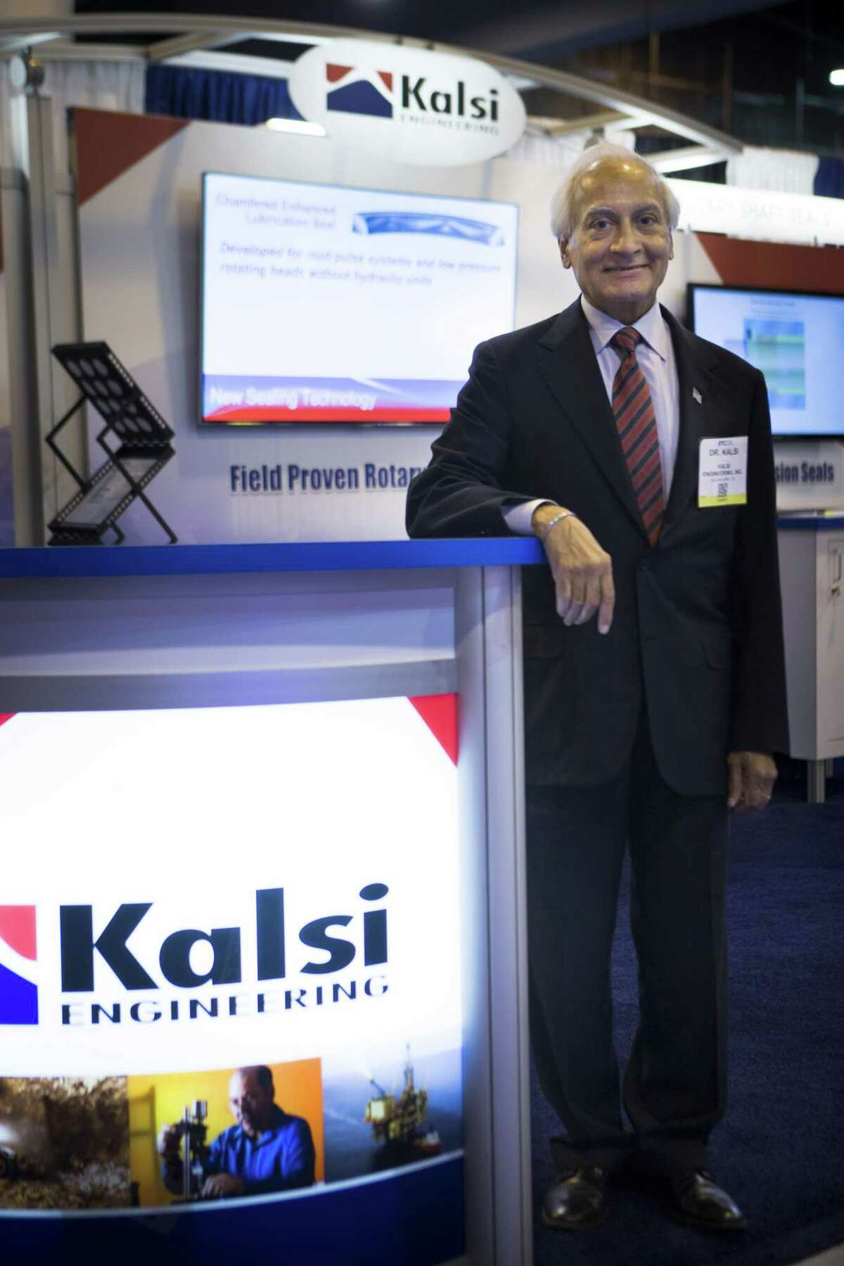 Dr. M.S Kalsi founder of Kalsi Engineering says his company has seen a 50 percent drop in revenue since the oil price collapsed, but his company is in good health due to conservative business practices. Tuesday, May 3, 2016, in Houston. ( Marie D. De Jesus / Houston Chronicle )