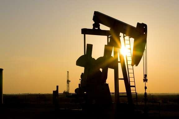 The West Texas sky silhouettes a Linn Energy pumpjack in the Permian basin.
