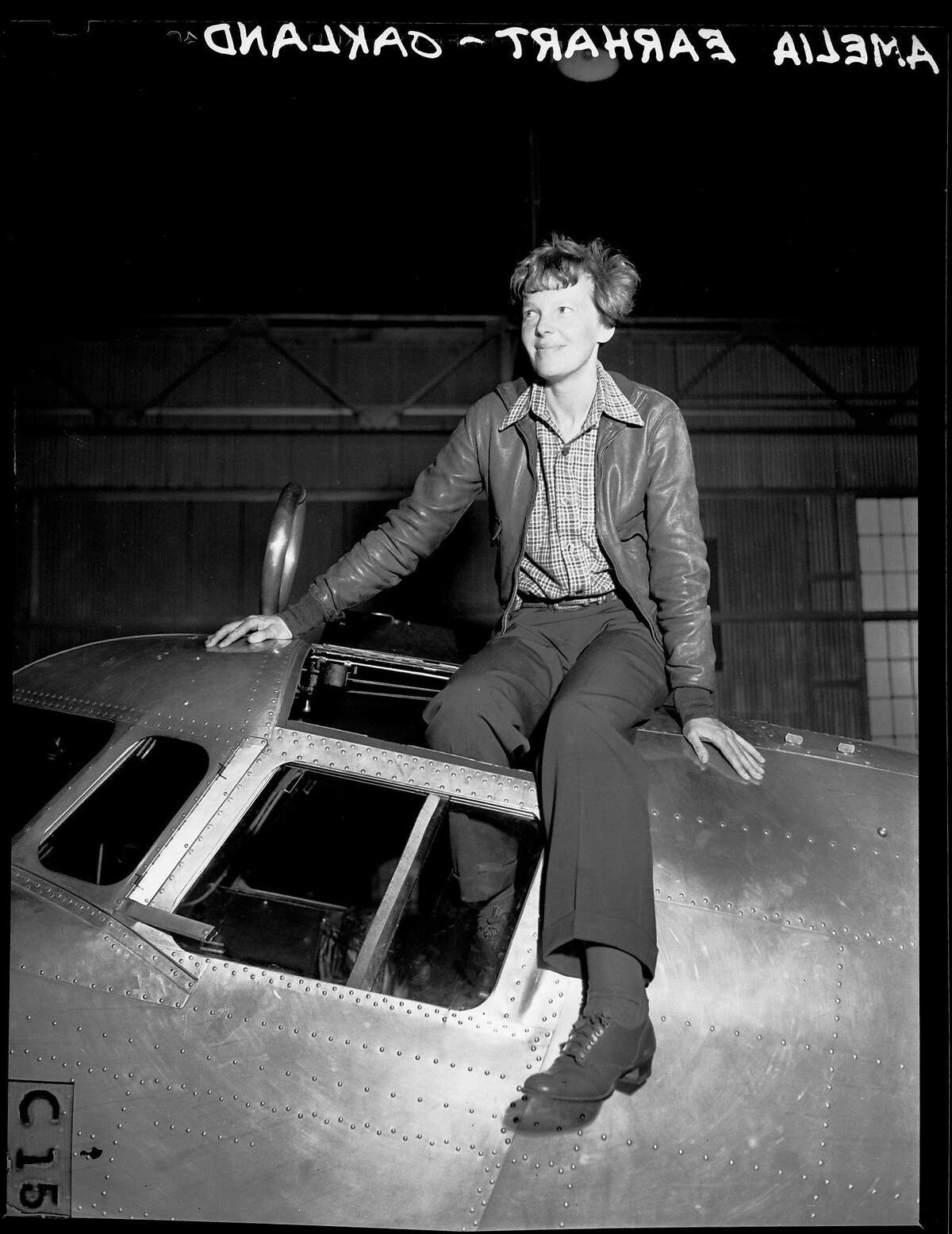 Amelia Earhart Putnam in Oakland before her final flight, 1937. Photo by Chronicle