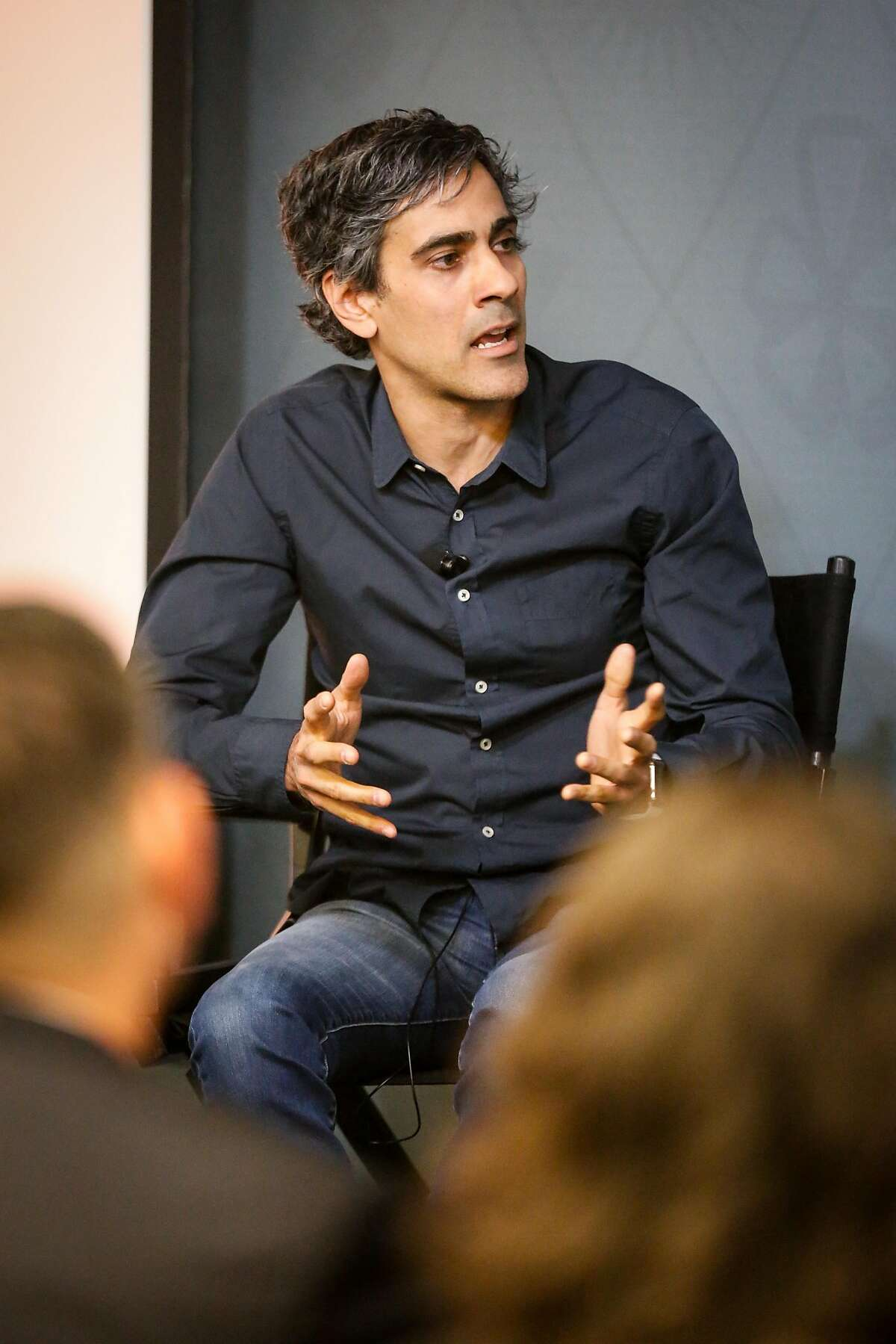YELP CEO Jeremy Stoppelman speaks at a panel discussion on housing with State Senator Scott Wiener among others at the Yelp headquarters on Thursday, April 18, 2018 in San Francisco, California.