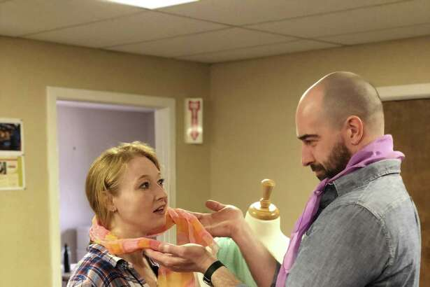 """Jes Bedwinek and Mike Mihm rehearse for """"Love Quest."""""""
