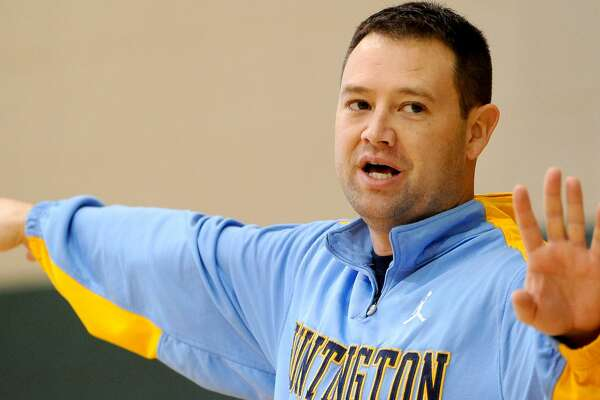 HUNTINGTON, WV - February 2: Huntington Prep head coach Rob Fulford gives instructions to his players during practice in Huntington, West Virginia, on February 2, 2012. (Photo by Toni L. Sandys/The Washington Post via Getty Images)