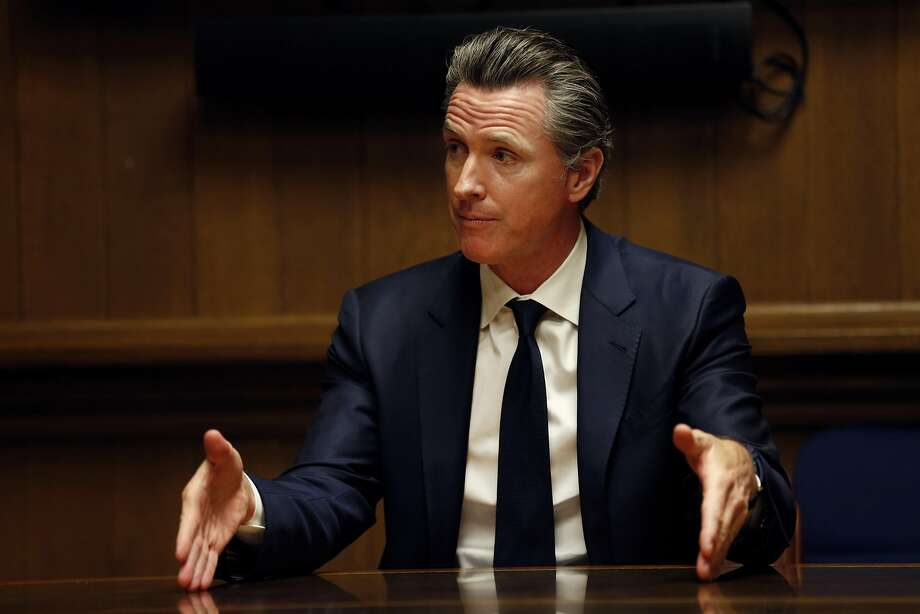 California Lt. Gov. Gavin Newsom is interviewed by the San Francisco Chronicle editorial board, Wednesday, April 18, 2018, in San Francisco, Calif. Photo: Santiago Mejia, The Chronicle