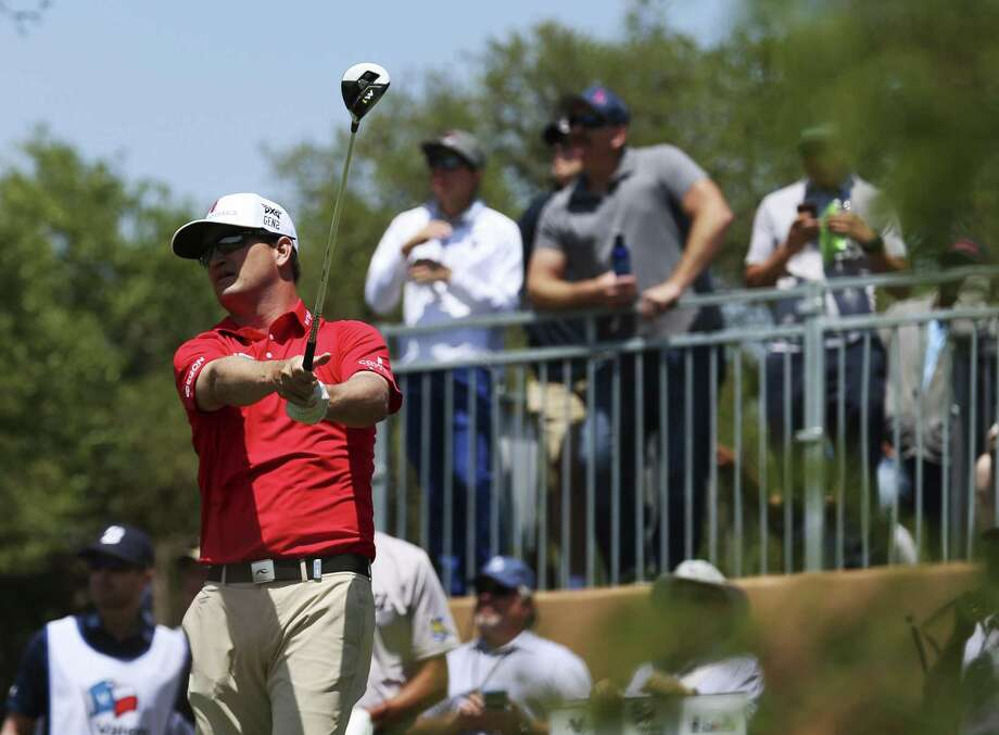Two-time Texas Open champion (2008 and 2009) Zach Johnson tracks his tee shot off on No. 1 on Day 1 of the 2018 Valero Texas Open at TPC San Antonio on Thursday, Apr. 19, 2018. (Kin Man Hui/San Antonio Express-News) Photo: Kin Man Hui, Staff / San Antonio Express-News / ©2018 San Antonio Express-News