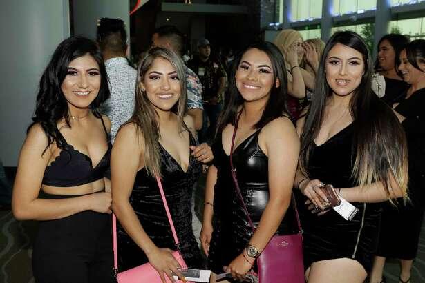 People attend the Maluma concert at Smart Financial Center Thursday, April 19, 2018. ( Melissa Phillip / Houston  Chronicle )