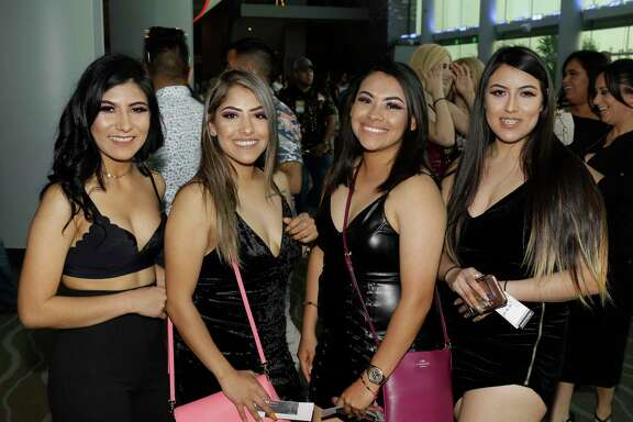 People attend the Maluma concert at Smart Financial Center Thursday, April 19, 2018. ( Melissa Phillip / Houston  Chronicle )