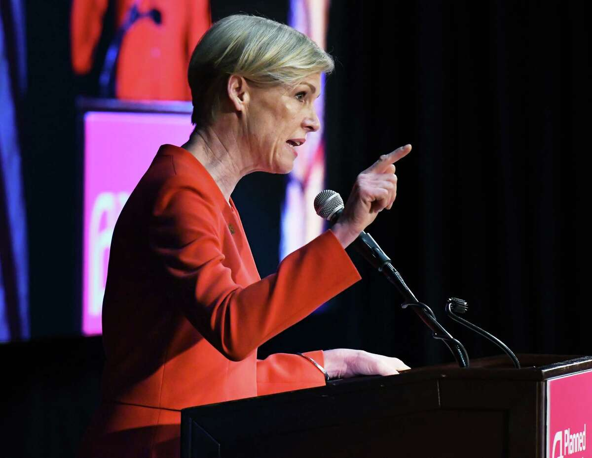 President of Planned Parenthood Action Fund Cecile Richards speaks to NYS Planned Parenthood advocates during a rally at the Empire State Plaza Convention Center Tuesday March 13, 2018 in Albany, NY. (John Carl D'Annibale/Times Union)