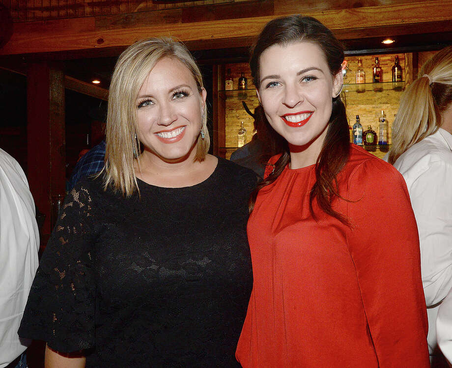 Linsi Walker and Sara Norman were at Third Coast Bank's customer appreciation night at Jerry Nelson's in Beaumont. The event celebrated the institution's 10-year anniversary and featured, food, drinks, give-aways and a headlining performance by Mark Chesnutt.  Photo taken Thursday, April 19, 2018 Kim Brent/The Enterprise Photo: Kim Brent / BEN