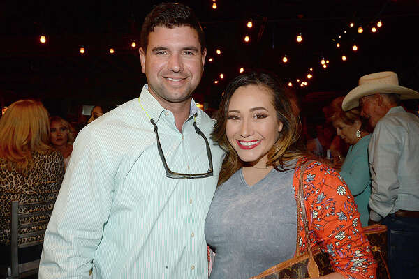 Keat and Lacey Chiasson were at Third Coast Bank's customer appreciation night at Jerry Nelson's in Beaumont. The event celebrated the institution's 10-year anniversary and featured, food, drinks, give-aways and a headlining performance by Mark Chesnutt.  Photo taken Thursday, April 19, 2018 Kim Brent/The Enterprise