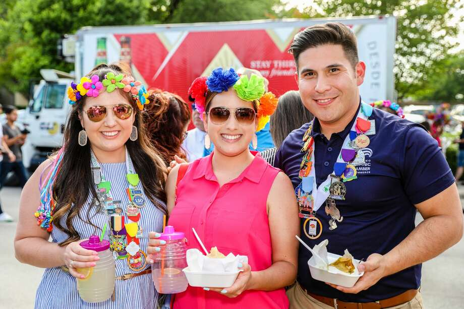 At Hemisfair Park, on Friday, April 19, 2018, Fiesta 2018 kicked off. Fiesta Fiesta is the official opening event of Fiesta, which takes place over 11 days each April. Official Fiesta Royalty and the Mayor helped to kick off the event. Pin trading, food, and music were all a part of this family friendly event. Photo: Marco Garza