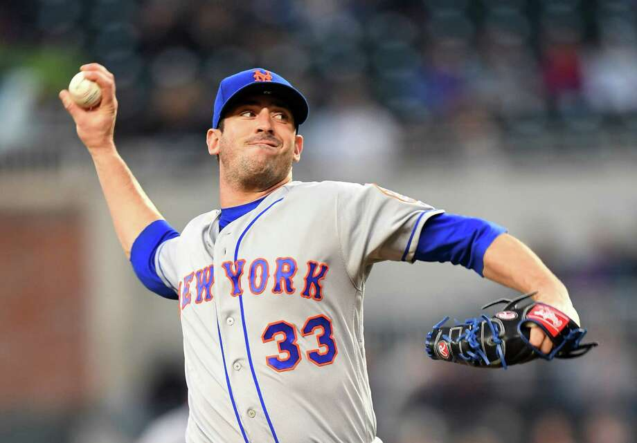 ATLANTA, GA - APRIL 19: Matt Harvey #33 of the New York Mets throws a second-inning pitch against the Atlanta Braves at SunTrust Park on April 19, 2018 in Atlanta, Georgia. (Photo by Scott Cunningham/Getty Images) Photo: Scott Cunningham / 2018 Getty Images