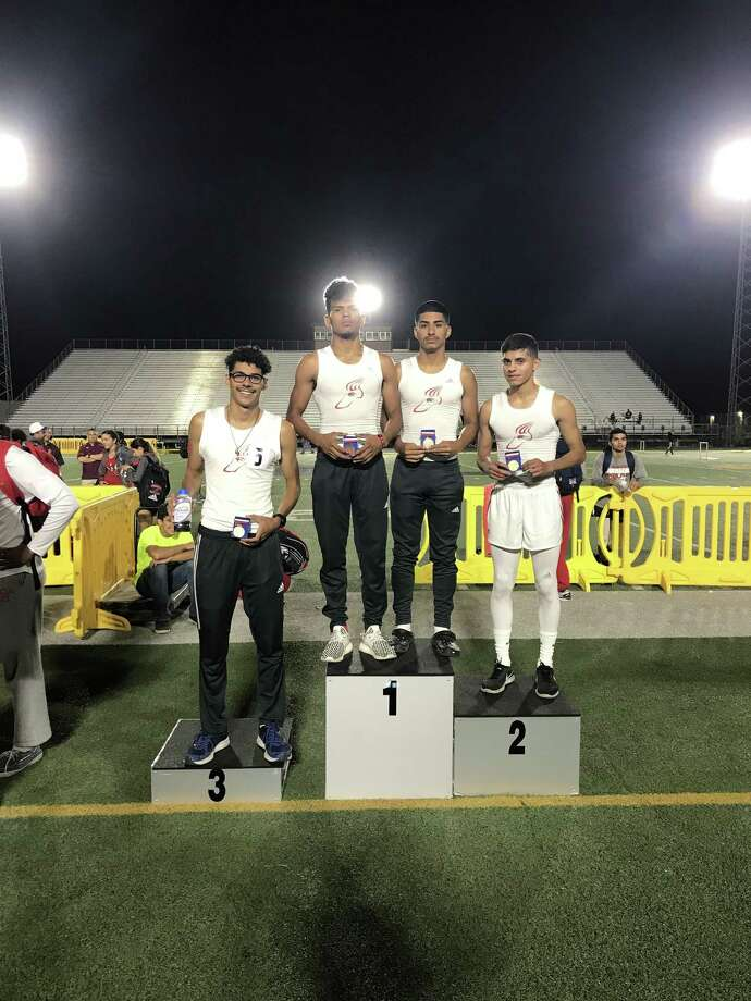 Martin's 4x400-meter relay team of Miguel Escamilla, Cesar Jimenez, Guillermo Navarro and Martin Davalos placed third. Photo: Courtesy Photo