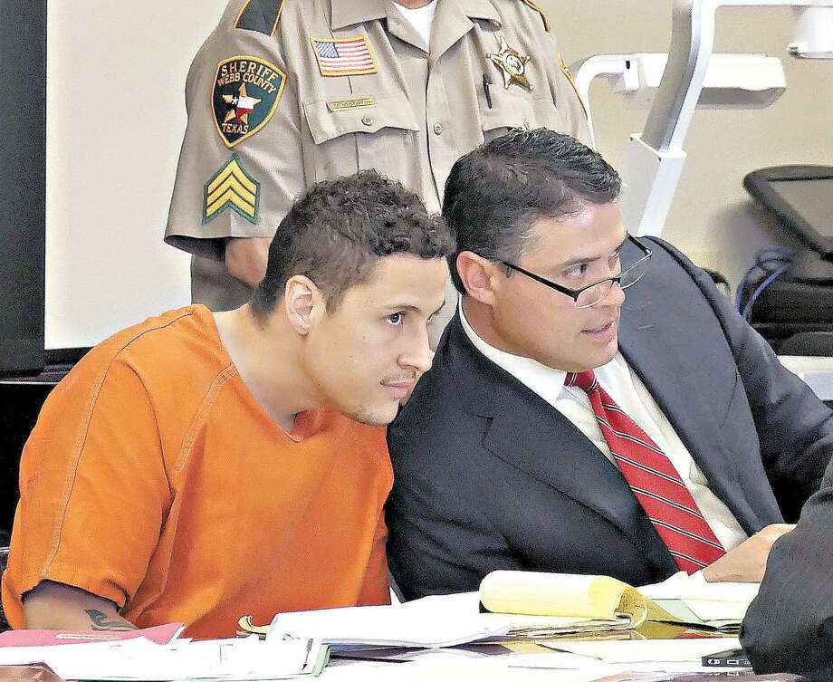 Suspended supervisory Border Patrol agent Ronald Anthony Burgos-Aviles, 28, is accused of fatally stabbing his 27-year-old lover and their 1-year-old son. Photo: Laredo Morning Times