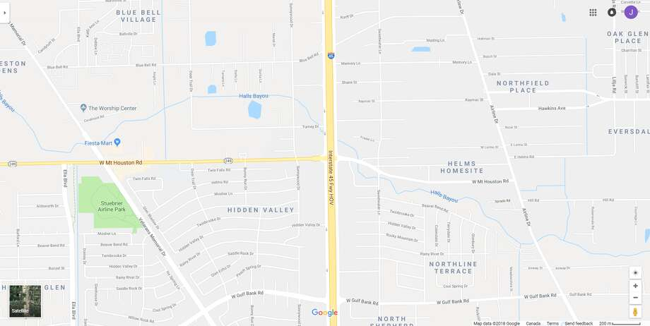 FILE - A screenshot of a Google Maps image shows the North Freeway near State Highway 249 in Houston, Texas. Friday, an 18-wheeler erupted in flames, leading to officials shutting down the southbound lanes of I-45. Photo: File/Google