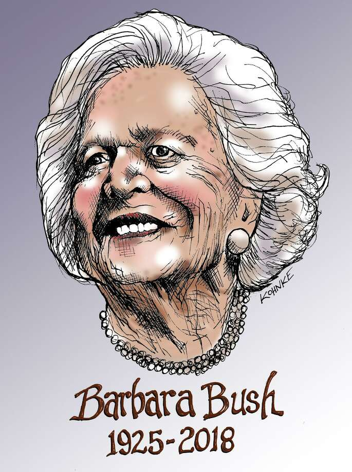 This artwork by Jennifer Kohnke refers to the death of former first lady Barbara Bush. Photo: Jennifer Kohnke