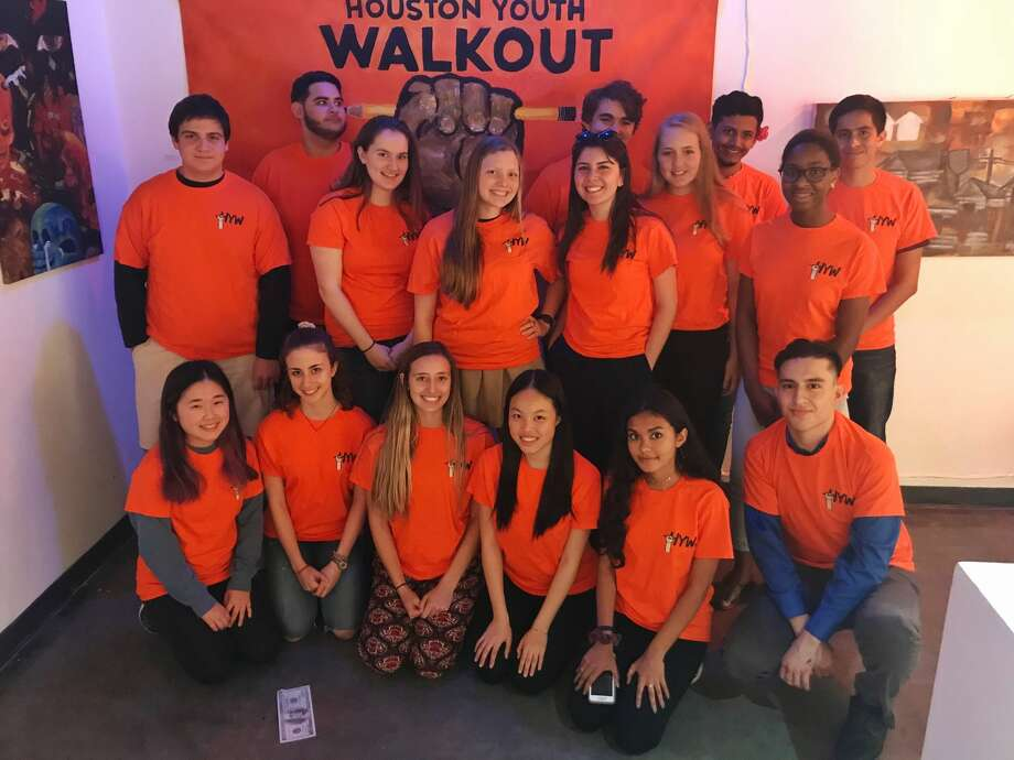 Student leaders behind the Houston Youth Walkout are advocating for common sense gun reform. Photo: Maha Rahman