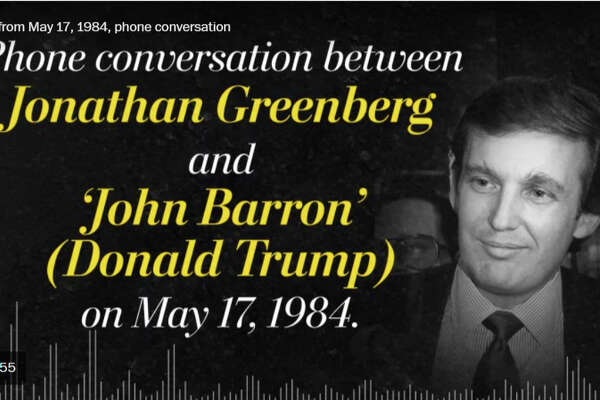 Phone conversation between Jonathan Greenberg and John Barron (Donald Trump) on May 17, 1984. Accompanies Embed Code 1.