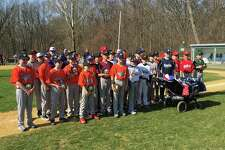 The 12-year old players from the Fairfield National Little League Majors teams were honored at Opening Day ceremonies at Tunxis Hill Park on April 14.