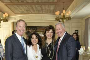 Neil and Maria Bush with Terri and John Havens