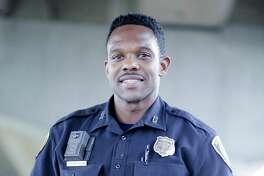 HPD offIcer Sheldon Theragood saved a homeless man's life during Harvey.