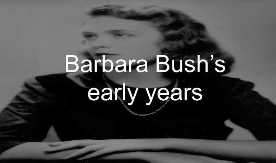 Barbara Bush's early years Photo: Associated Press