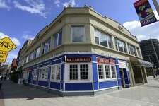 An exterior of Tiernan's Bar & Restaurant at 187 Main St., in downtown Stamford, Conn.