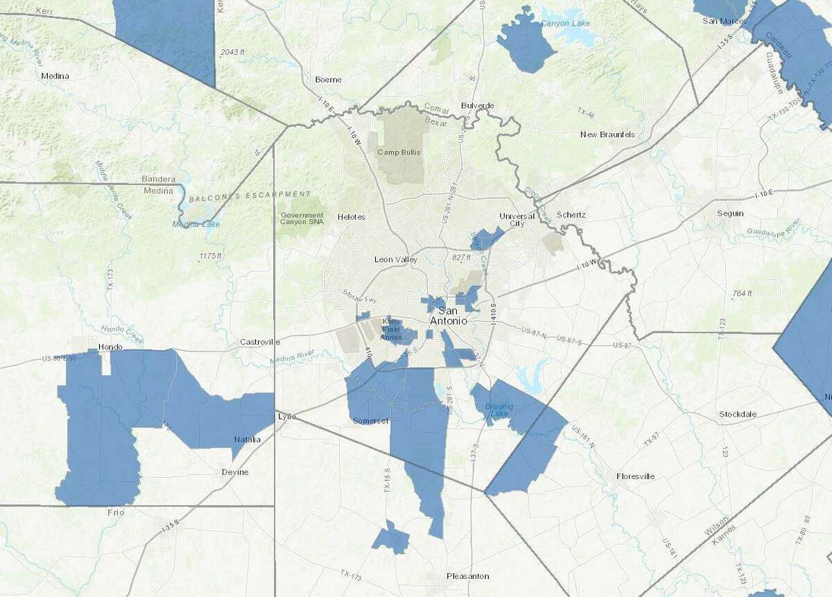 """The U.S. Treasury Department designated 24 census tracts in Bexar County as """"opportunity zones"""" ?- areas where investors can make long-term investments in exchange for capital gains tax relief."""