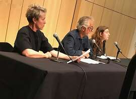 """Frances McDormand and David Strathairn and Marjolaine Goldsmith at Reimagine End of Life """"Theater of War"""" event"""