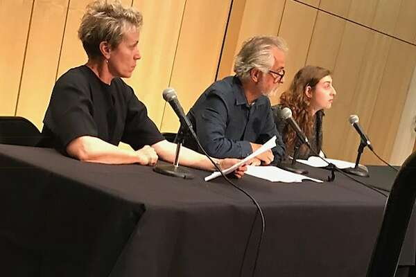 "Frances McDormand and David Strathairn and Marjolaine Goldsmith at Reimagine End of Life ""Theater of War"" event"